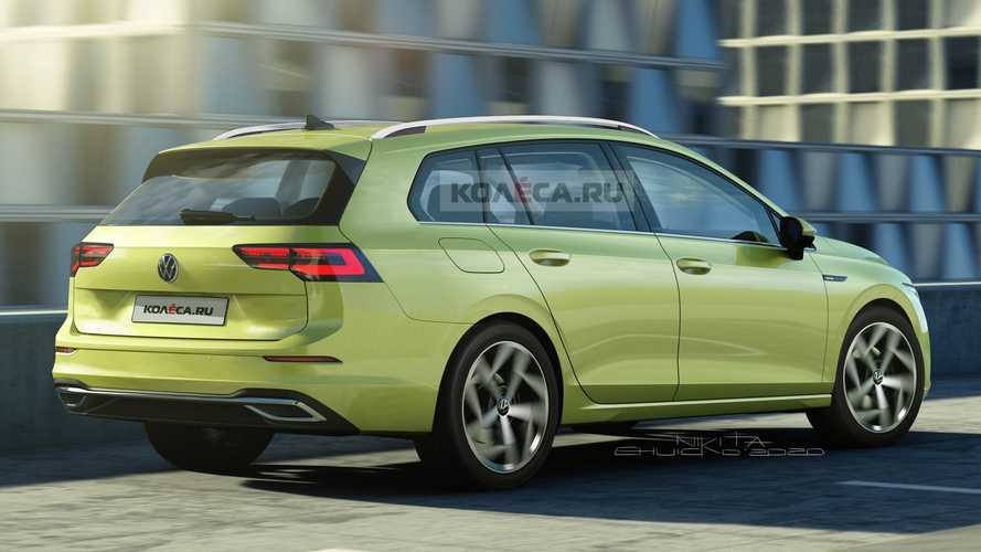 VW Golf Variant Rendering Based On Spy Shots Looks Predictable
