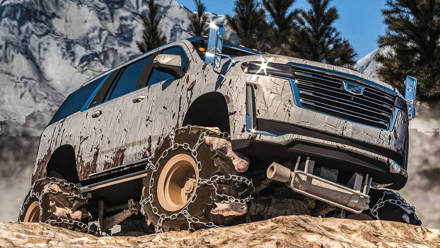 2021 Cadillac Escalade ESV Rendered As A Monster Truck