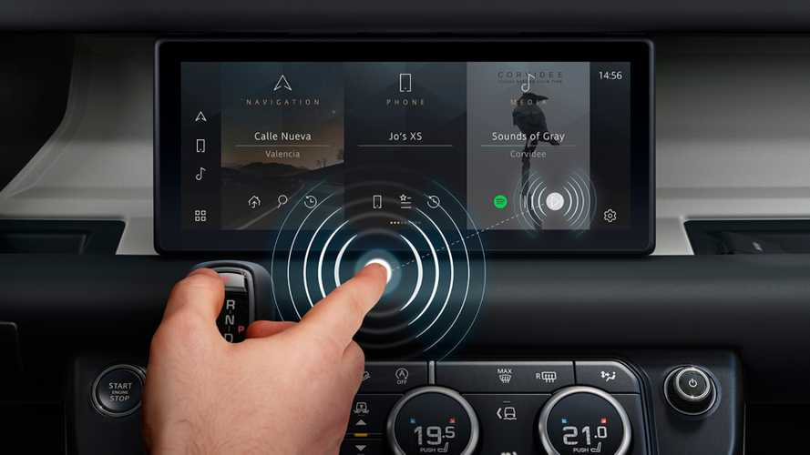 Jaguar Land Rover Contactless Touchscreens 'Reduce Spread Of Viruses'