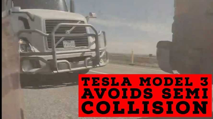 Watch Tesla Model 3 Avoid Nasty Rear-End Crash: Autopilot Or Human Driver?
