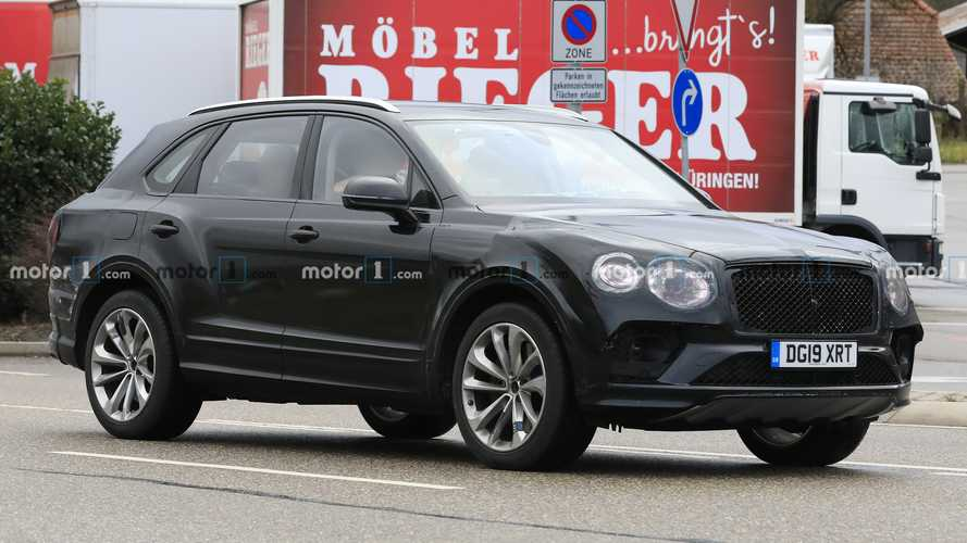 2021 Bentley Bentayga spied still wearing clever camouflage