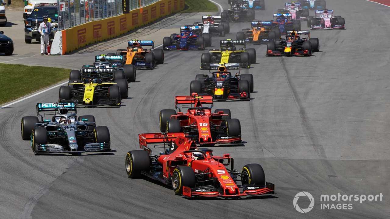 Canadian GP 2019 race start