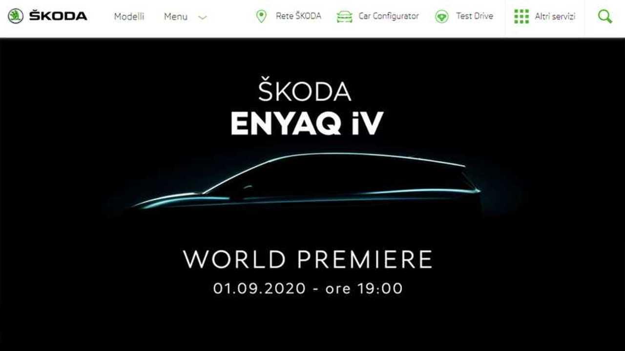 Skoda Enyaq iV, il 1° settembre debutto online