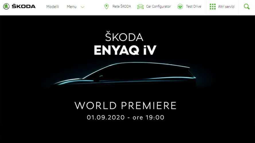 Skoda Enyaq iV, il 1° settembre debutto online del SUV elettrico