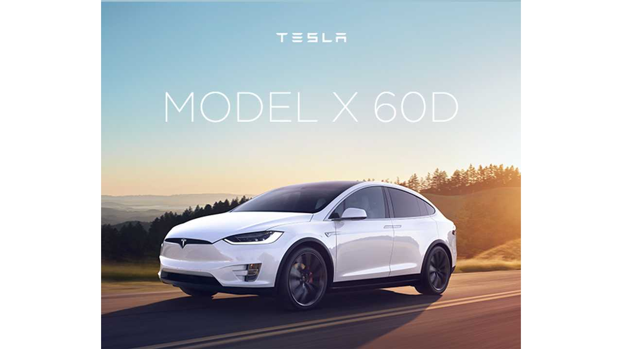 The base Tesla Model X 60D - from $788* per month