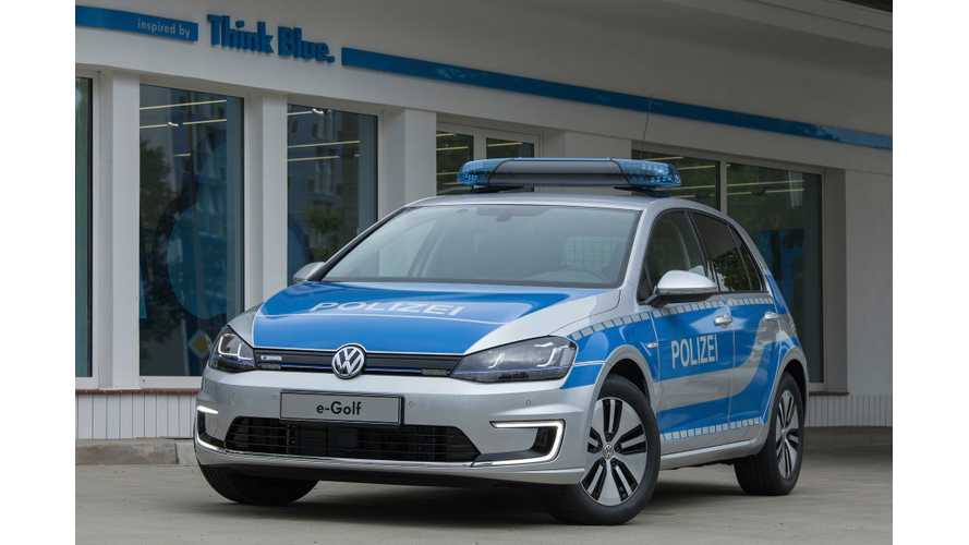 Volkswagen e-Golf Ready For Police Duty
