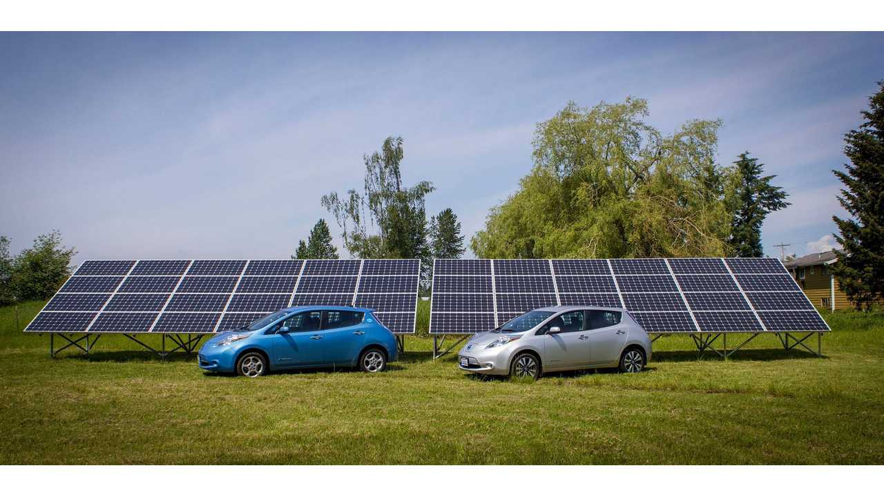 Nissan Presents Vision Of Tomorrow - 2 LEAFs Powered By The Sun