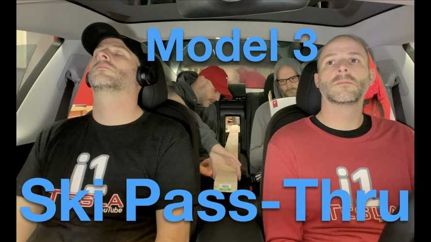 Check Out This Tesla Model 3 Rear Seat Pass-Through For Skis: Video