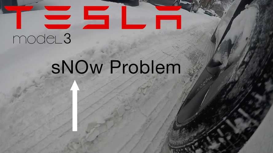 Tesla Model 3 Versus 6 Inches Of Snow - No Problem: Video