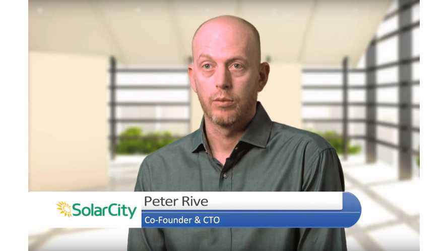 SolarCity CTO, Co-Founder & Key Solar Roof Developer Peter Rive Departs Tesla, Inc.