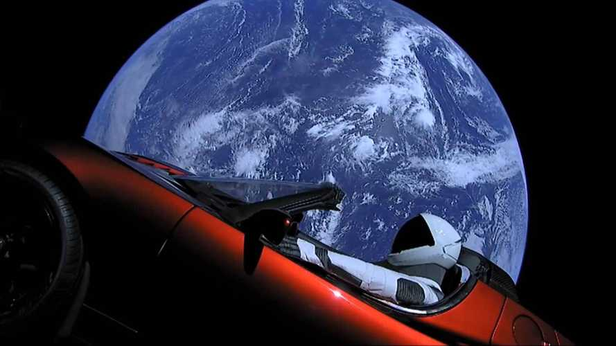 See The Tesla Roadster In Space From All Angles
