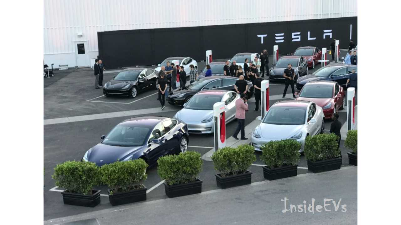 See Loads Of Tesla Model 3 Vehicles Ready To Roll Out For Delivery