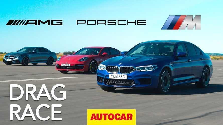 Watch Porsche Panamera Turbo S E-Hybrid Race BMW M5, Mercedes-AMG