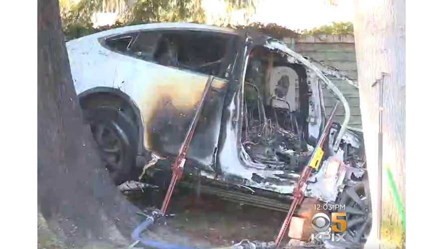 Tesla Model X Driver Survives Horrific Crash, Fire: Video