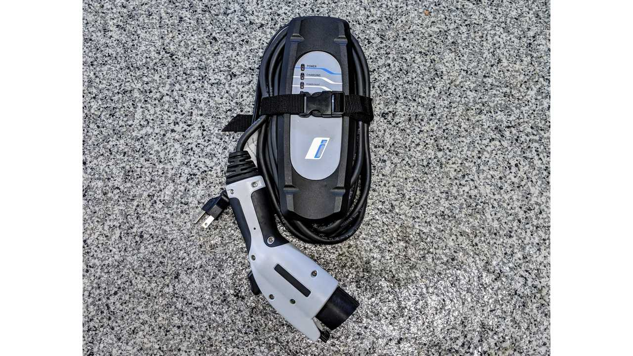 A BMW level-1 portable charger. These are provided with every BMW plug-in vehicle sold or leased. *Notice a standard household plug is used.