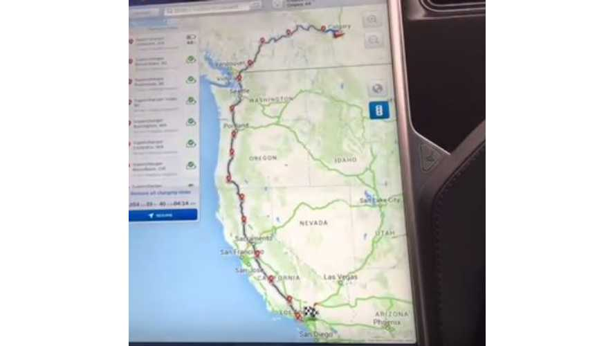 Tesla Model S Driven 1,900 Miles From Calgary To Disneyland