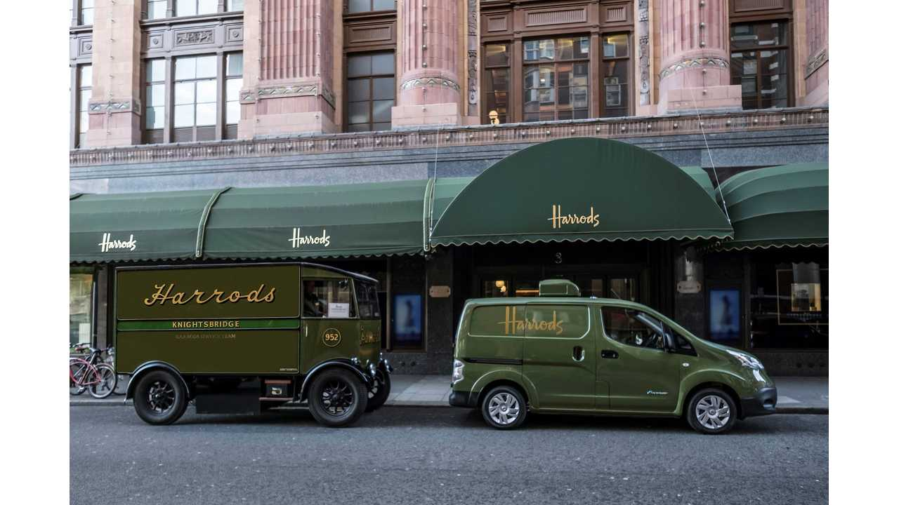 All-electric Nissan e-NV200 revolutionises iconic Harrods delivery fleet