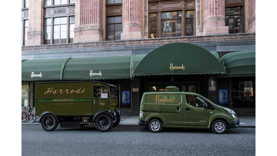 Nissan e-NV200 Re-Electrifies Iconic Harrods' Delivery Fleet - video