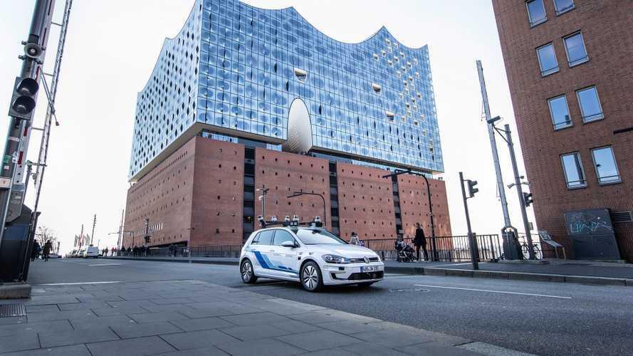 Volkswagen e-Golf, i test della guida autonoma ad Amburgo