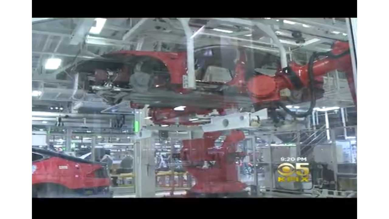 KPIX 5 From The Bay Area Gets An All Access Look Inside Tesla's Assembly Facility