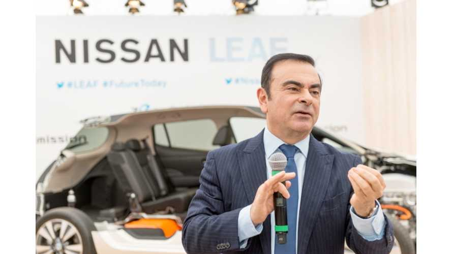 Renault-Nissan CEO Carlos Ghosn Discusses Nissan's Goal Of Eliminating Range Anxiety By Increasing EV Range