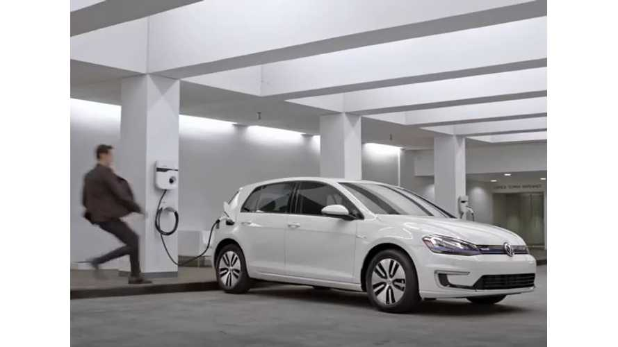 """Volkswagen e-Golf Appears In VW's """"Podium Race"""" Commercial"""