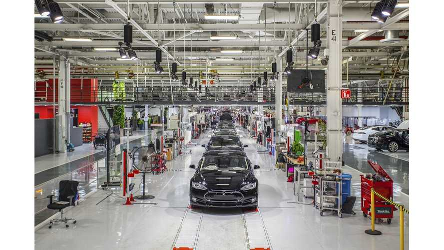 Report: Tesla's Fremont Factory Not Efficient, Employs Too Many Workers Per Car Produced