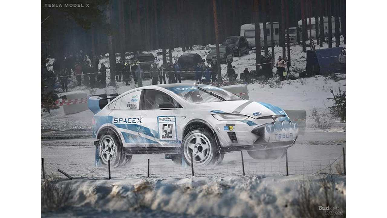 Check Out This Rally-Ready Tesla Model X Supercar