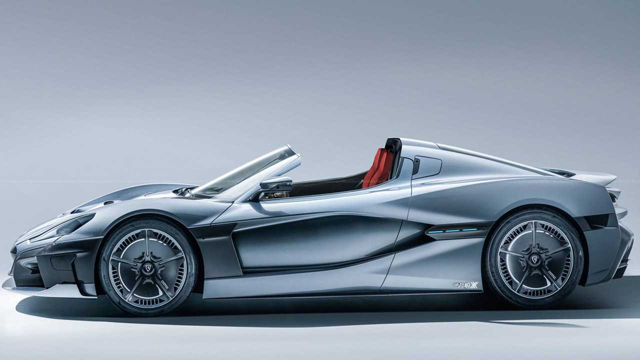 Rimac C_Two Rendered In Open-Top Form