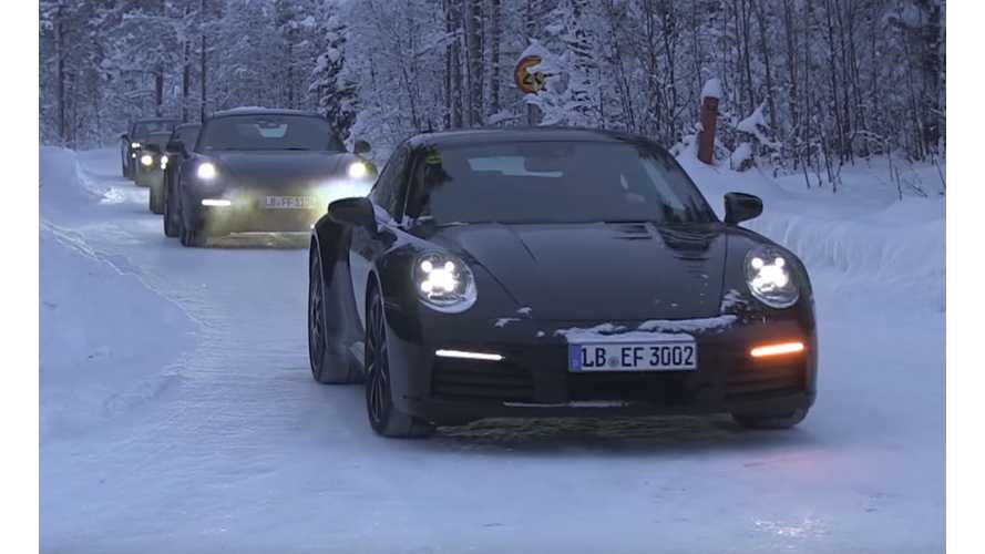 Watch Porsche Mission E Glide On Snow