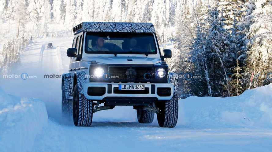 Mercedes Classe G 4x4², le foto spia sulla neve