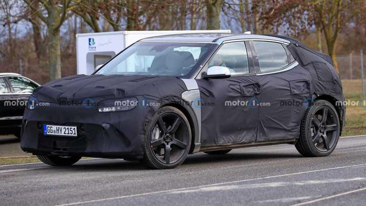 Genesis EV Spy Shots Three Quarters wheels