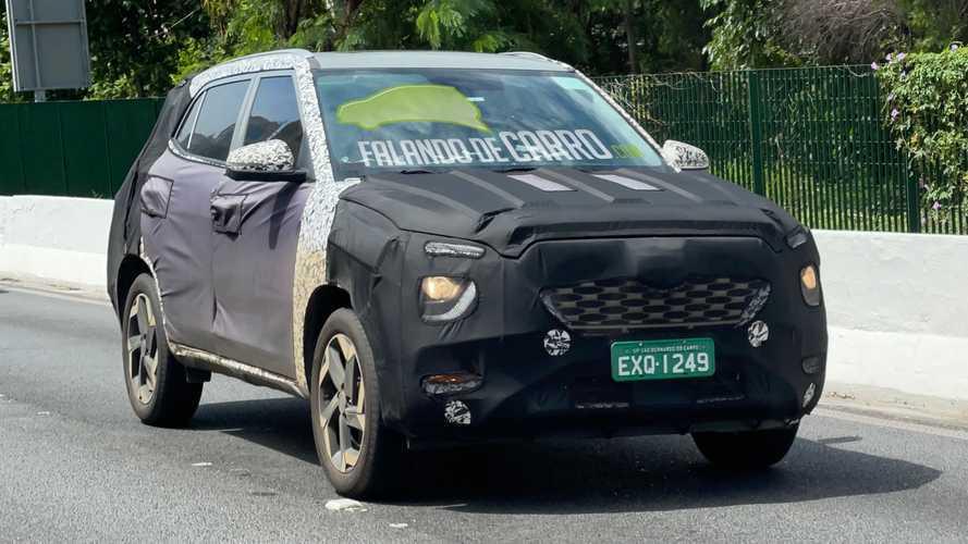 Flagra: Novo Hyundai Creta 2022 terá frenagem autônoma e disco nas 4 rodas