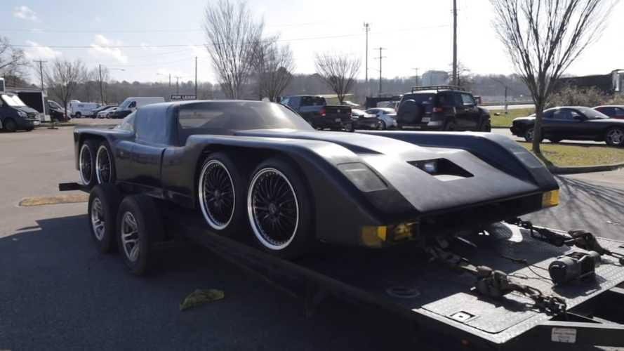 Wild Eight-Wheeled, Four-Rotor Build Looks Like A Forgotten Batmobile