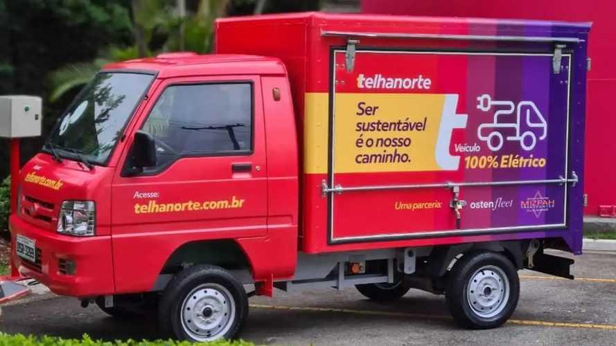 Caminhão elétrico fará entrega com 'emissão zero' da Telhanorte em São Paulo