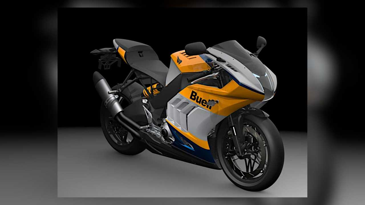 2021 Buell Hammerhead 1190RX Heritage Colors - Right Angle View