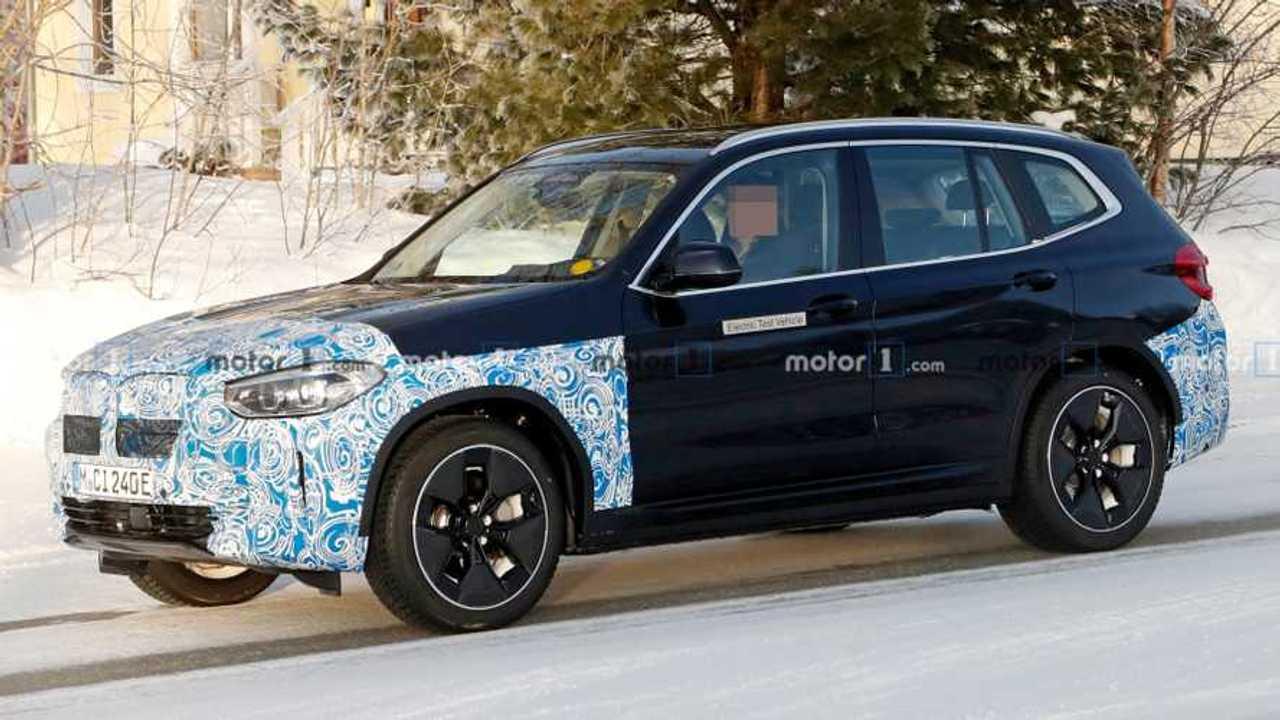 BMW iX3 spy photos lead image