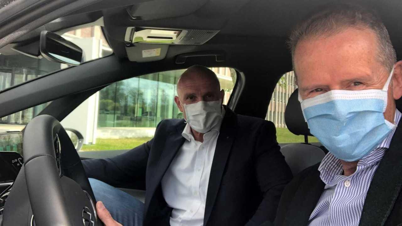 VW ID.3 Herbert Diess Mask Photo
