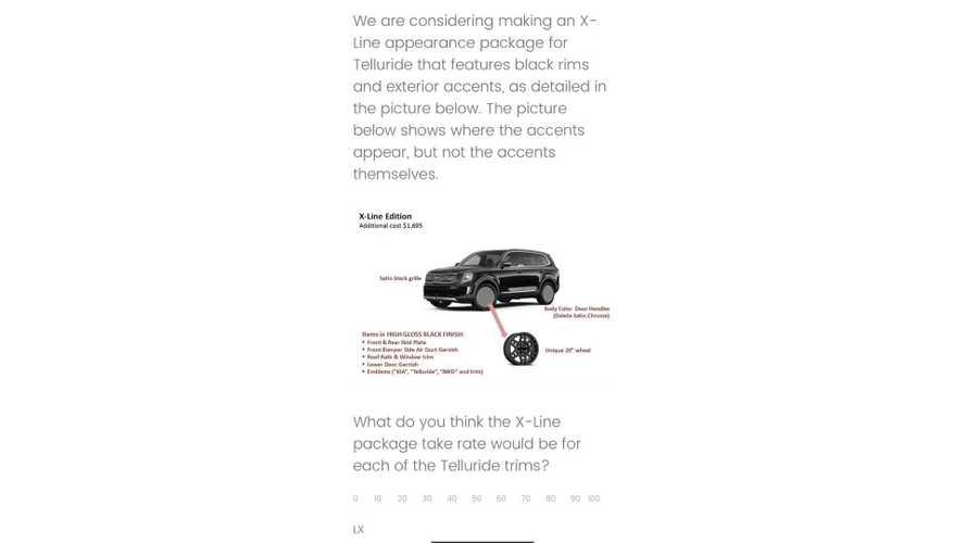 Kia Telluride X-Line Questionnaire