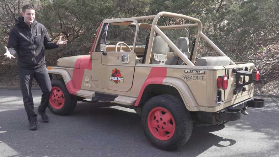 Abandoned Jeep Wrangler Restored To Be Jurassic Park Tribute Car