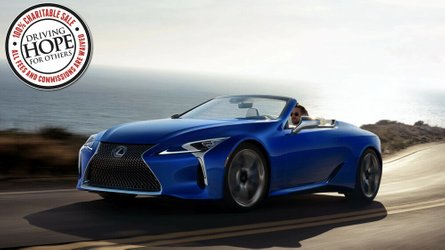One of a kind 2021 lexus lc 500 vert sells for 2 million