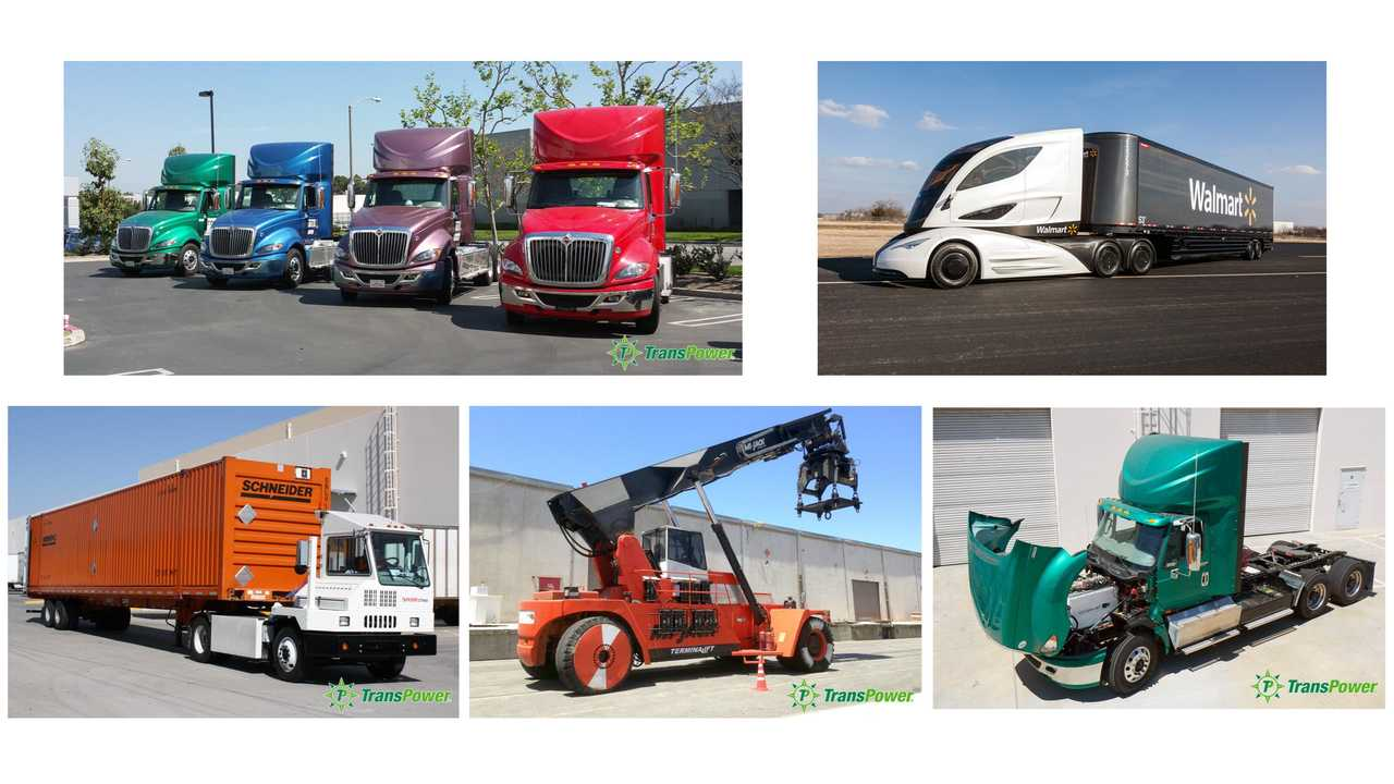 TransPower EV trucks
