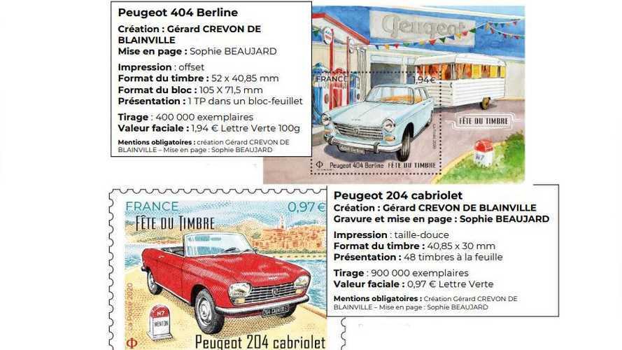 Les timbres des Peugeot 404 Berline et 204 Cabriolet arrivent !