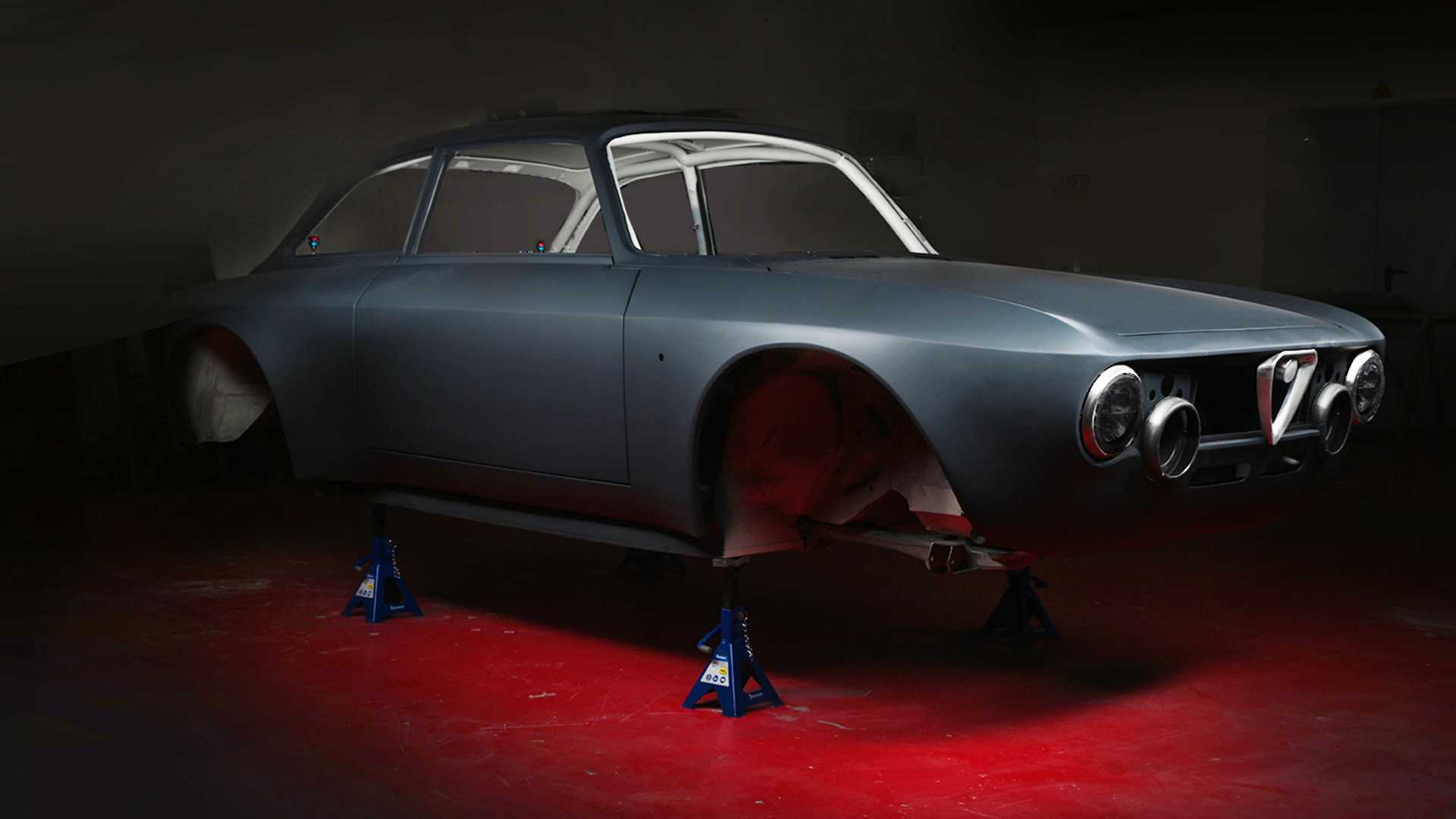 Alfa Romeo Gt Junior Restomod Is A Carbon Fiber Bodied Ev With 518 Hp
