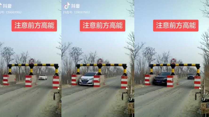 Videó: nem normális, amit Kínában magasságkorlátozó kapu jogcímen megépítettek