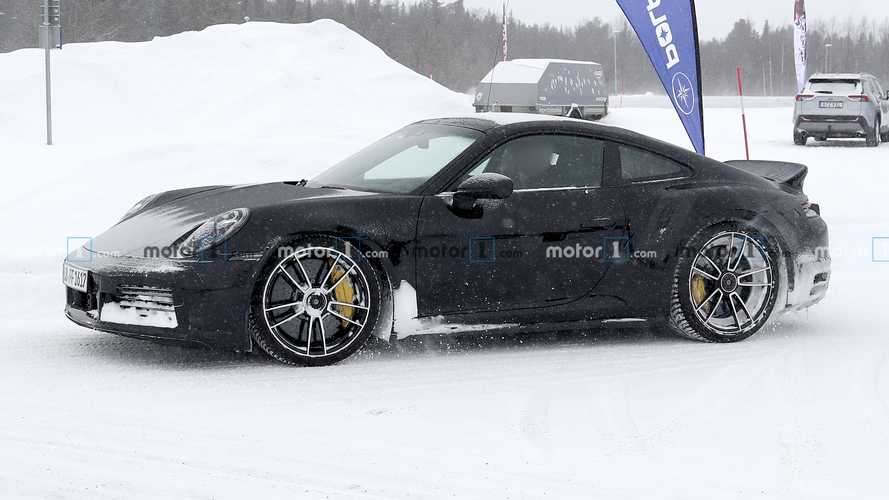 Next-Gen Porsche 911 Turbo S Spied Again With Duck Tail Wing