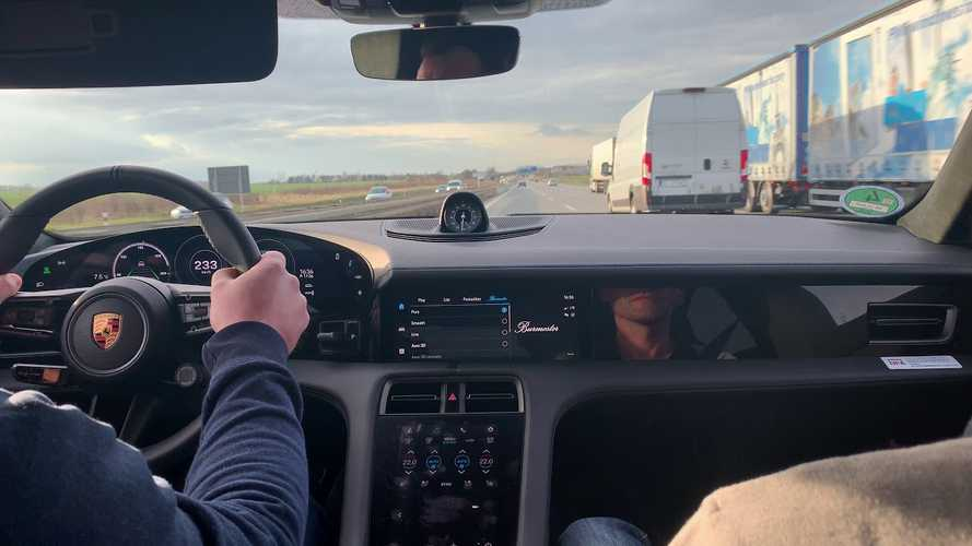 Check Out This Porsche Taycan Turbo S Racing Down The Autobahn