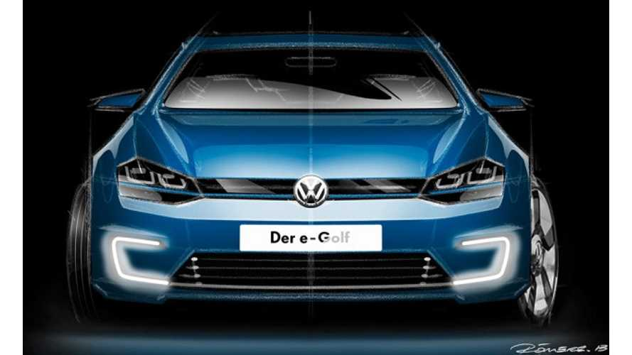 Volkswagen e-Golf: From Render to Real Deal