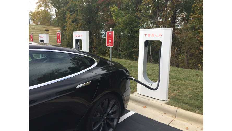 Tesla Supercharger Now Online in Burlington, North Carolina