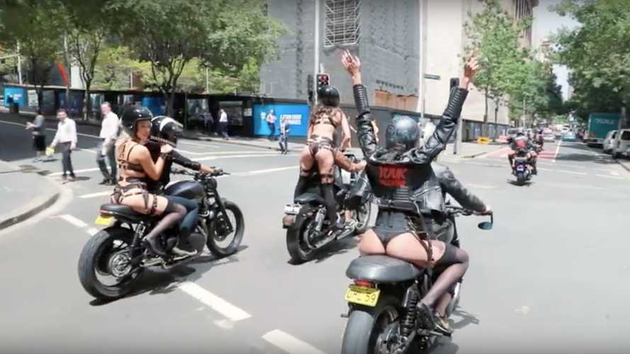 Weekend WTF: Lingerie Models On Bikes To Empower Women